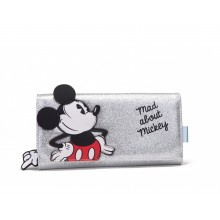 Piniginė Mad about Mickey sidabrinė