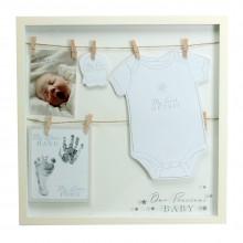 Rėmelis MDF kūdikio rankytei, drabužėliams,nuotraukai 40*40*3cm