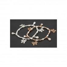 Apyrankė pasidabruota su natūraliais perlais paauksuota
