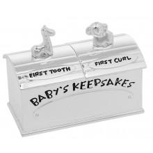 Dėžutė pasidabruota pirmam dantukui,sruogelei
