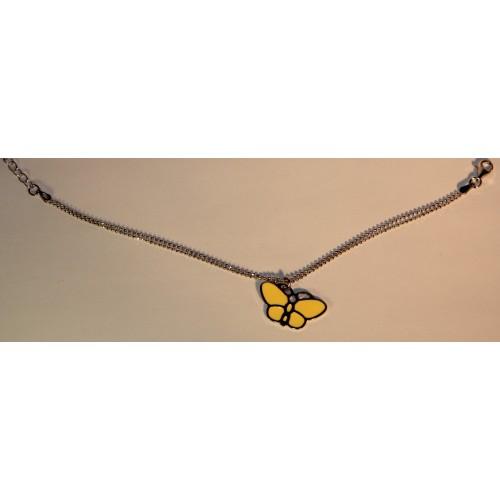 Apyrankė drugelis geltonas