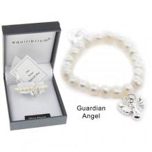 Apyrankė Angel pasidabruota su natūraliais baltais perlais