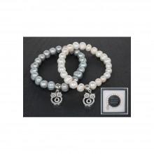 Apyrankė su natūraliais spalvotais perlais Pelėdžiukas
