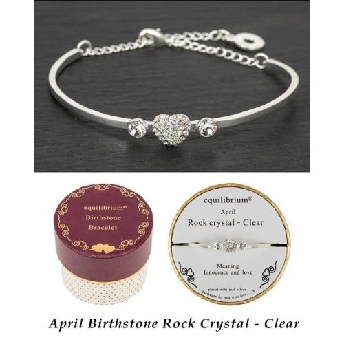 Apyrankė Balandis pasidabruota su širdele ir 2 kristalais