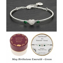 Apyrankė Gegužė pasidabruota su širdele ir 2 smaragdais
