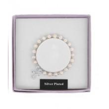 Apyrankė Angelas Saugotojas pasidabruota su natūraliais baltais perlais