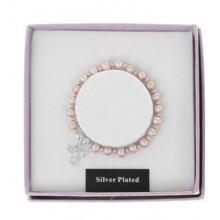 Apyrankė Angelas Saugotojas pasidabruota su natūraliais spalvotais perlais
