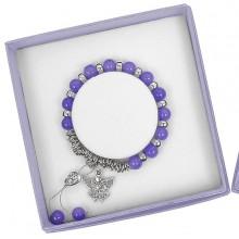 Apyrankė Angelas Saugotojas pasidabruota su violetiniais perliukais
