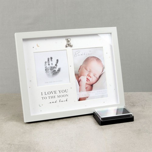 Rėmelis dvigubas rankytės antspaudas ir nuotrauka