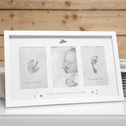 Rėmelis dvigubas rankytės ir kojytės antspaudas ir nuotrauka 25*40 cm